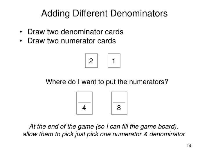 Adding Different Denominators