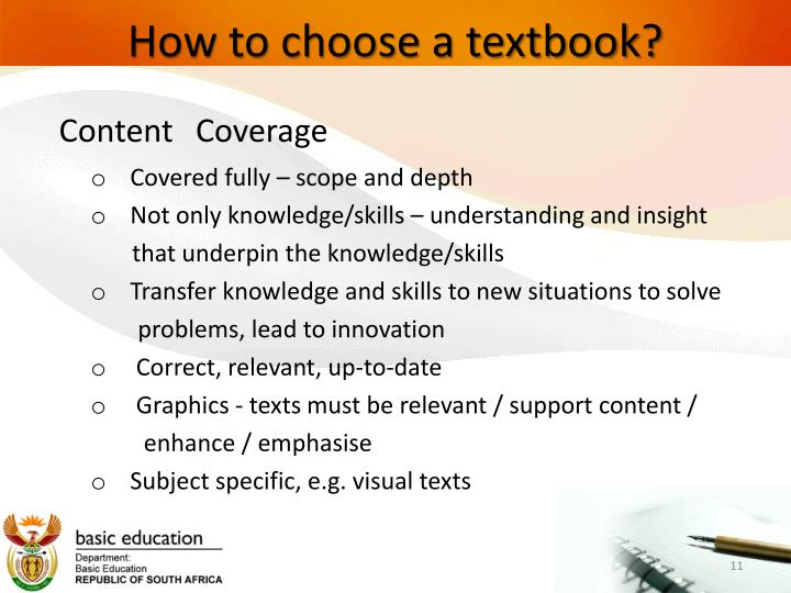 How to choose a textbook?