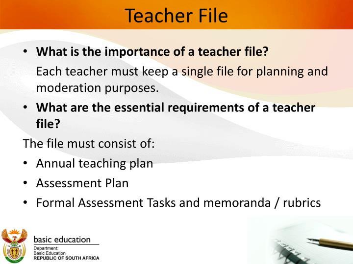 Teacher File