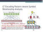 lt encoding pattern aware symbol relationship analysis