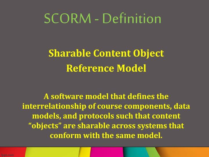 SCORM - Definition