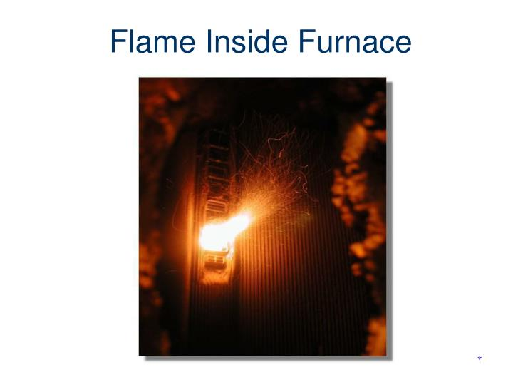 Flame Inside Furnace