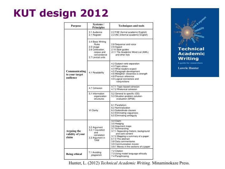 KUT design 2012