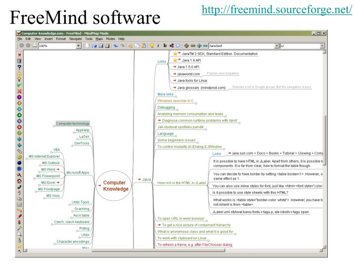 http://freemind.sourceforge.net/