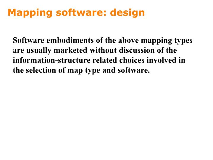 Mapping software: design