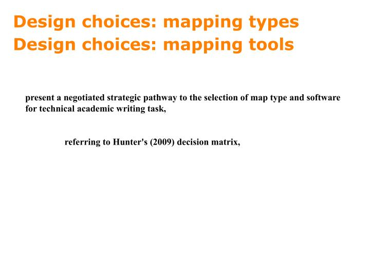 Design choices: mapping types