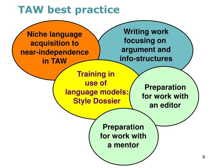 TAW best practice