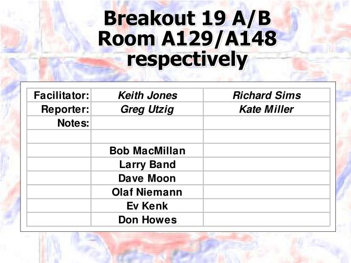 Breakout 19 A/B