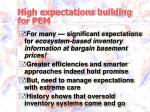 high expectations building for pem