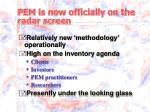 pem is now officially on the radar screen