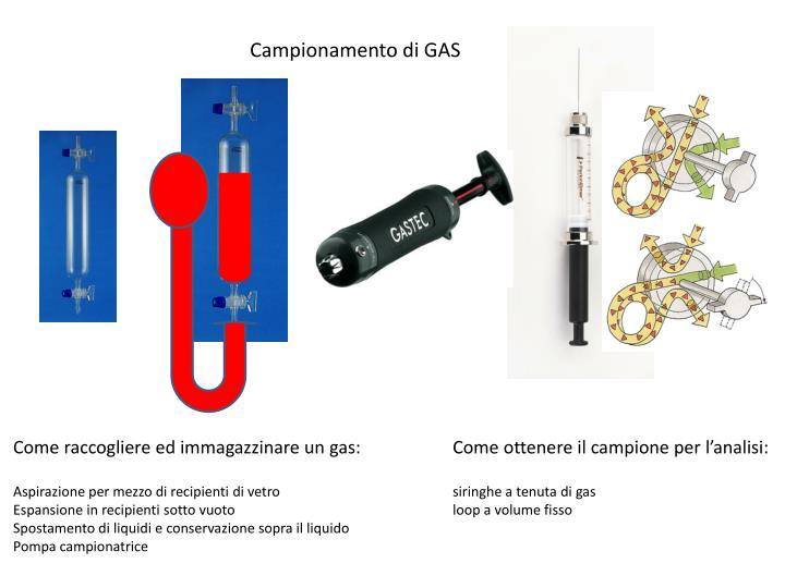 Campionamento di GAS