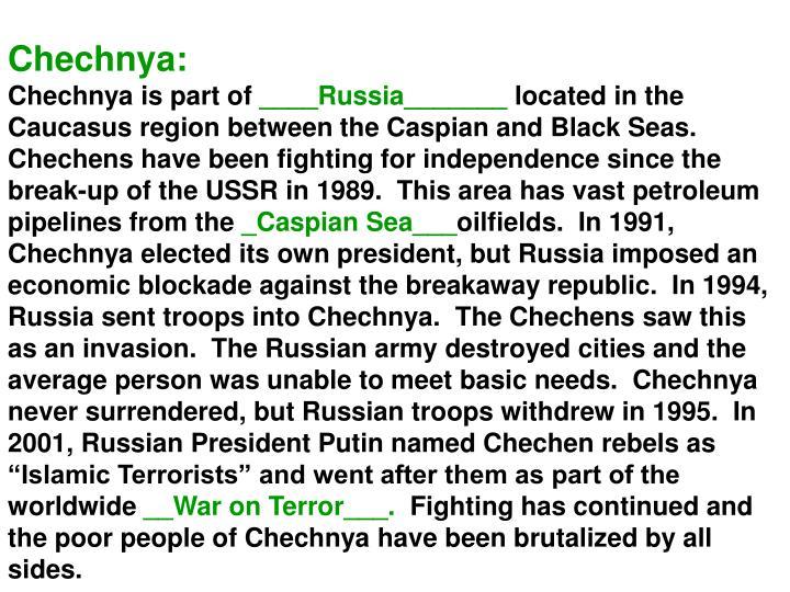 Chechnya: