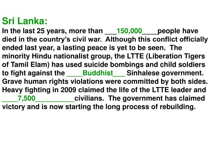 Sri Lanka:
