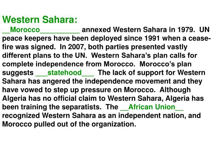 Western Sahara: