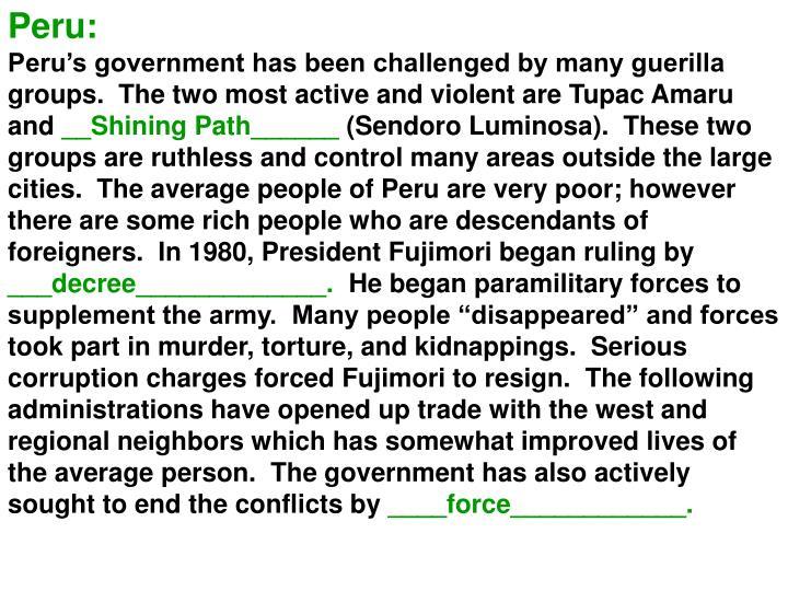 Peru: