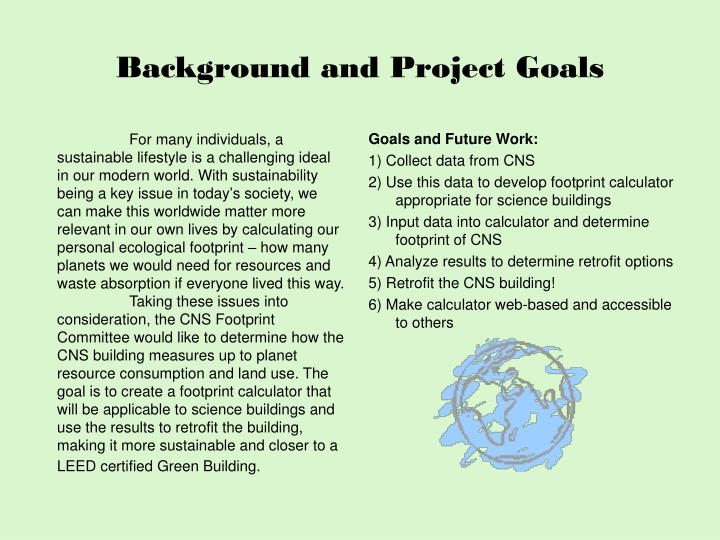 Background and project goals