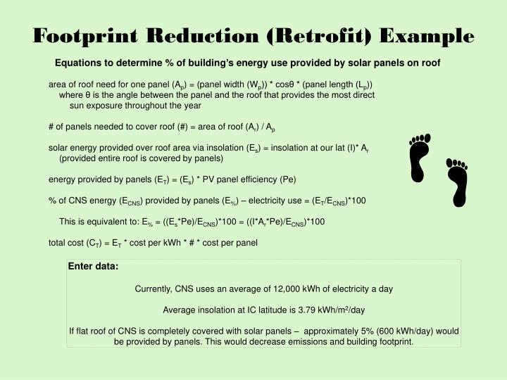 Footprint Reduction (Retrofit) Example