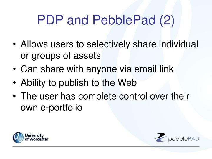PDP and PebblePad (2)