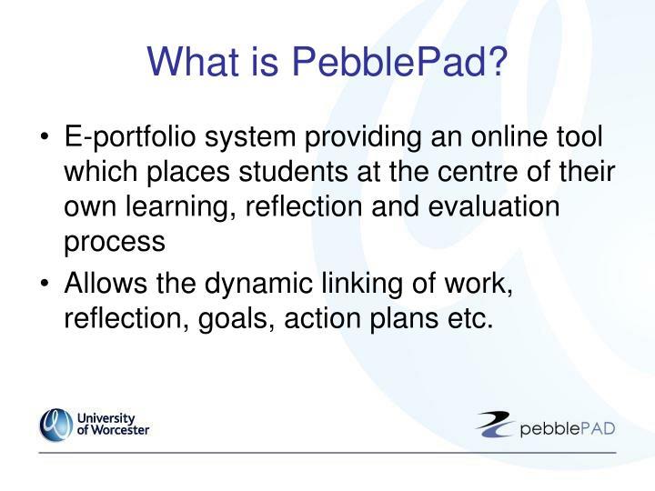What is PebblePad?