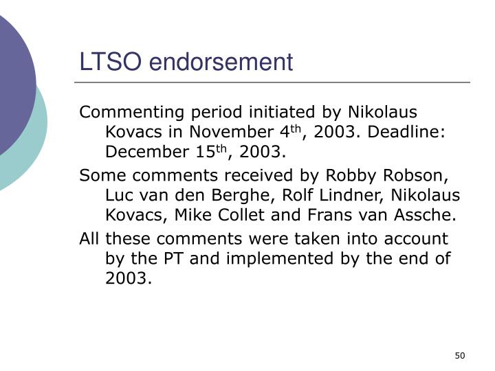 LTSO endorsement