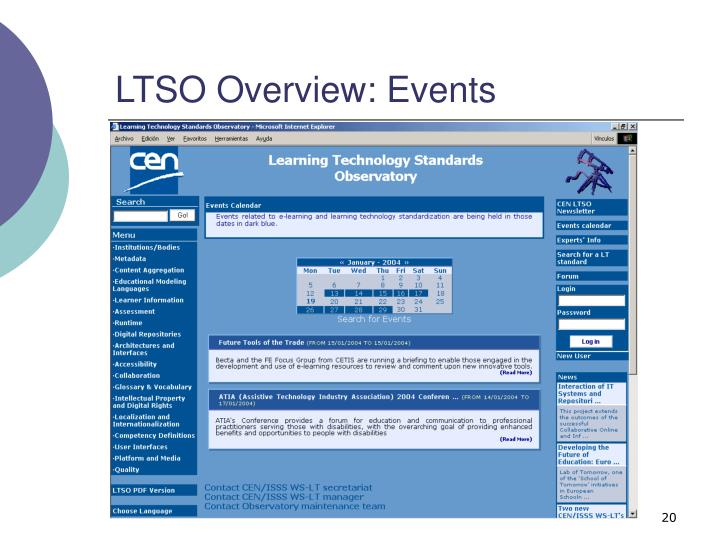 LTSO Overview: Events