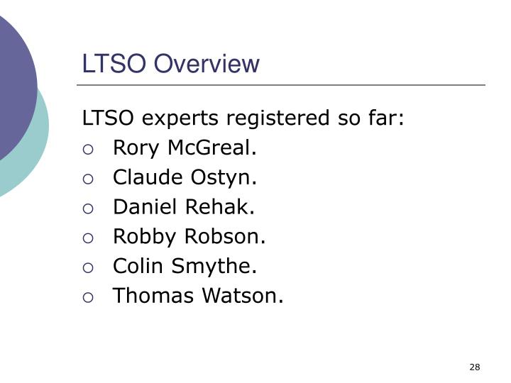 LTSO Overview