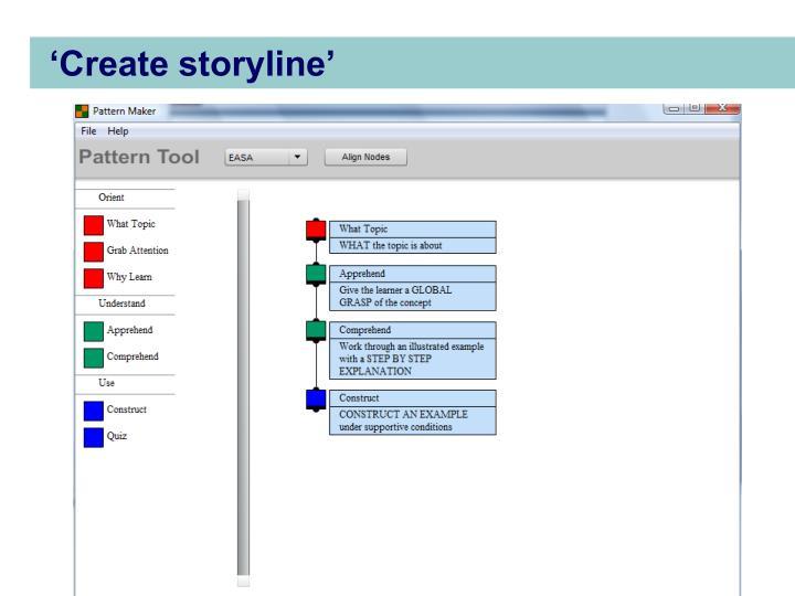 'Create storyline'