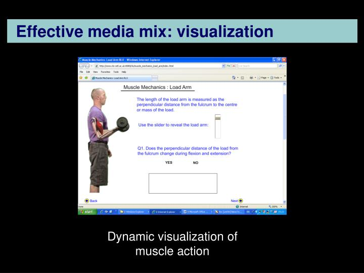 Effective media mix: visualization