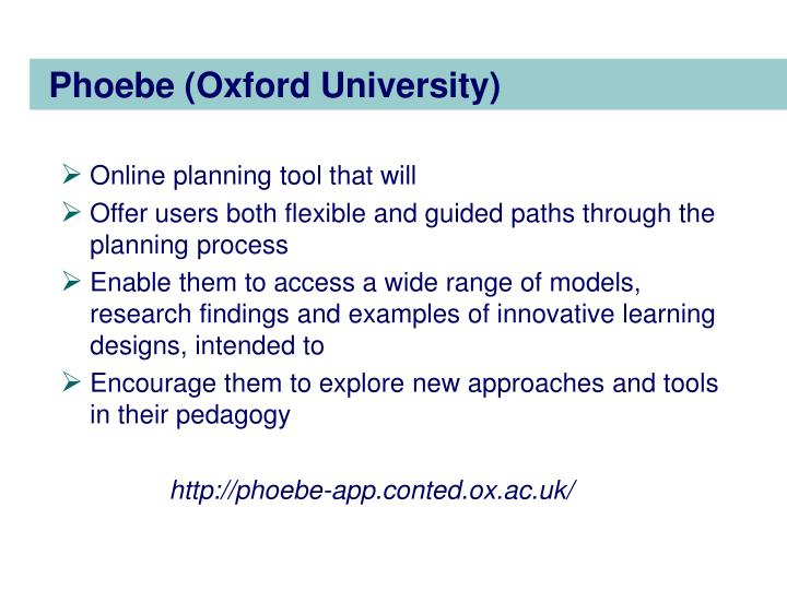 Phoebe (Oxford University)