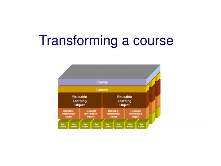 Transforming a course