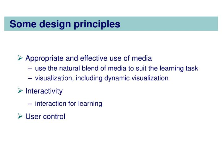 Some design principles