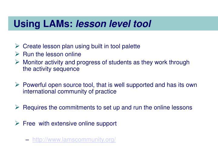 Using LAMs: