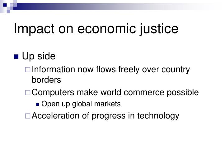 Impact on economic justice