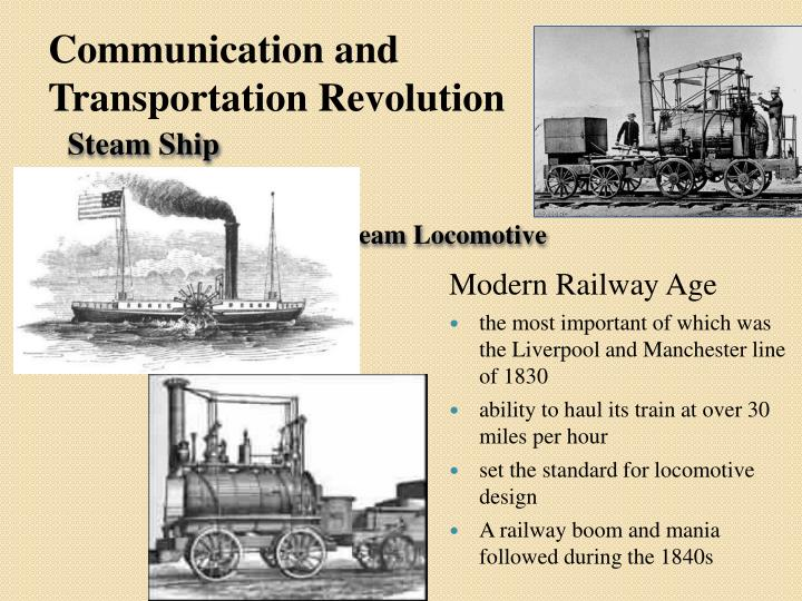 Communication and Transportation Revolution