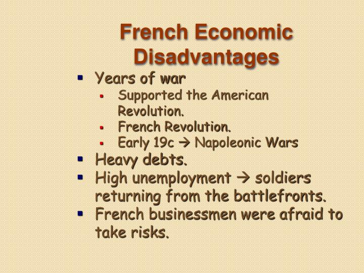 French Economic Disadvantages
