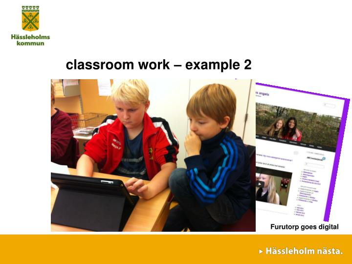 classroom work – example 2