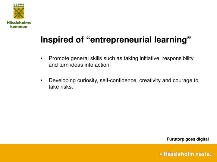 "Inspired of ""entrepreneurial learning"""