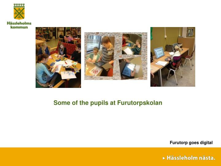 Some of the pupils at Furutorpskolan