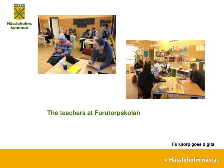 The teachers at Furutorpskolan