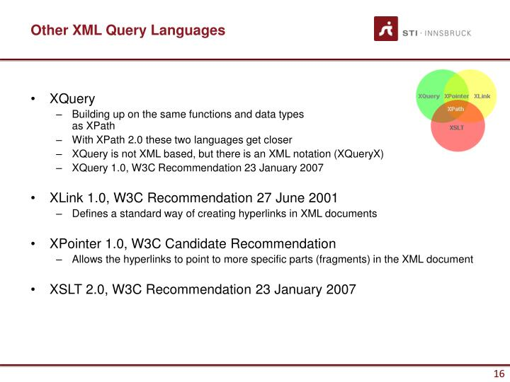 Other XML Query Languages