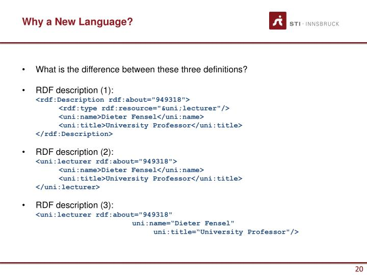 Why a New Language?