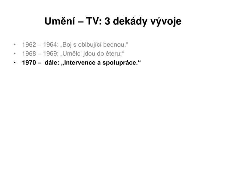 Umění – TV: 3 dekády vývoje