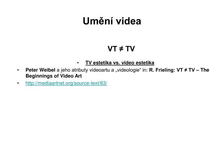 Umění videa