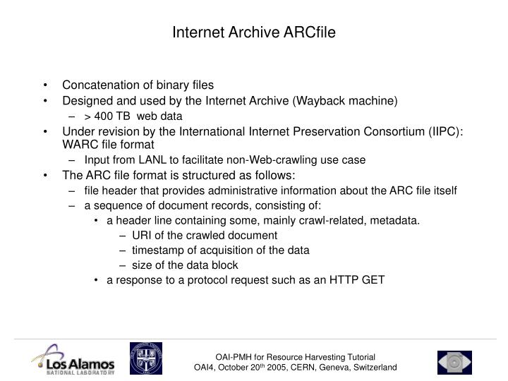 Internet Archive ARCfile