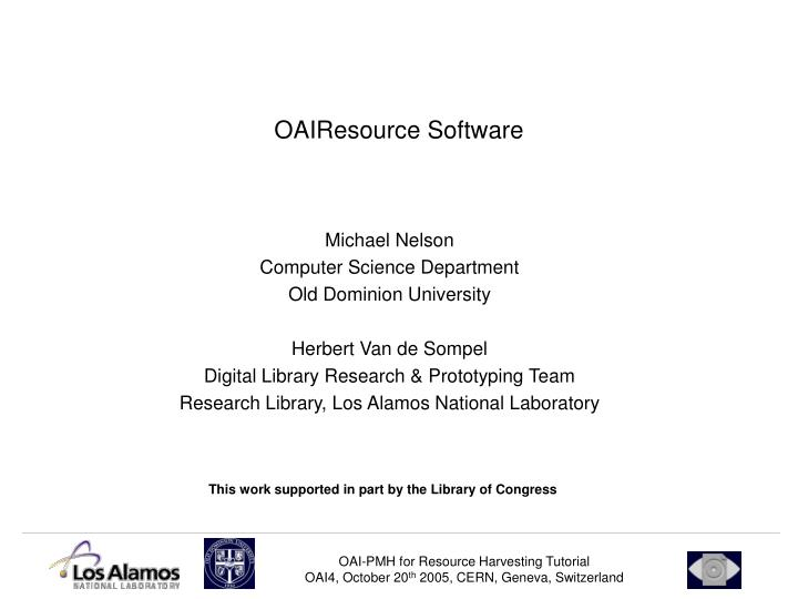 OAIResource Software