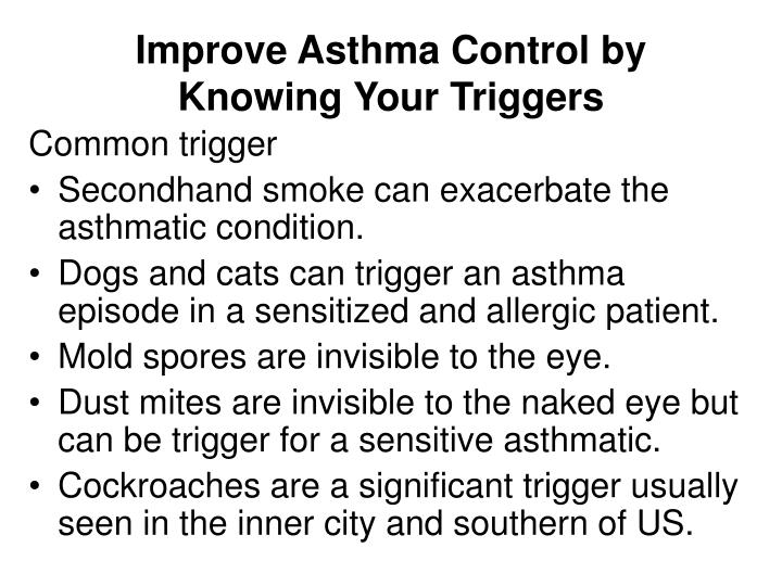 Improve Asthma Control by