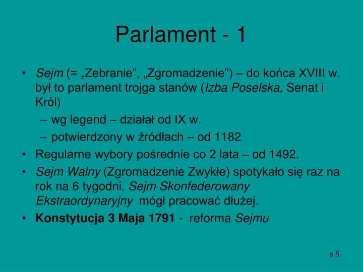 Parlament - 1
