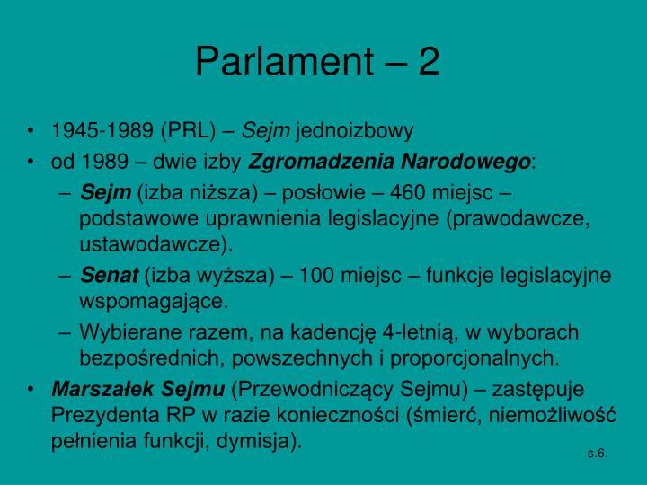 Parlament – 2