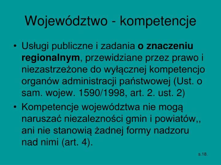 Województwo - kompetencje