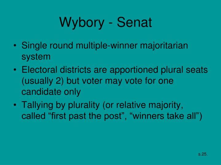 Wybory - Senat